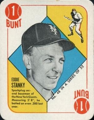 1951 Topps Red Backs Eddie Stanky 48 Baseball Vcp Price Guide