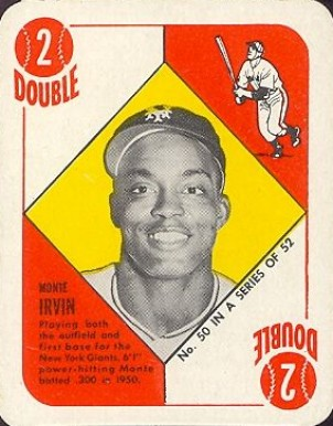 1951 Topps Red Backs Monte Irvin #50 Baseball Card