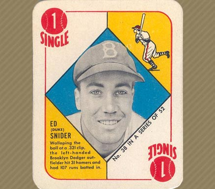 1951 Topps Red Backs Duke Snider #38 Baseball Card