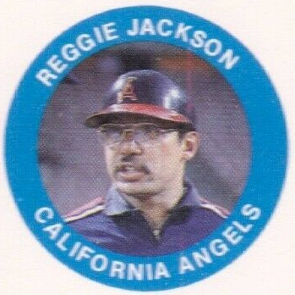 1985 Fun Food Buttons Proof Reggie Jackson # Baseball Card