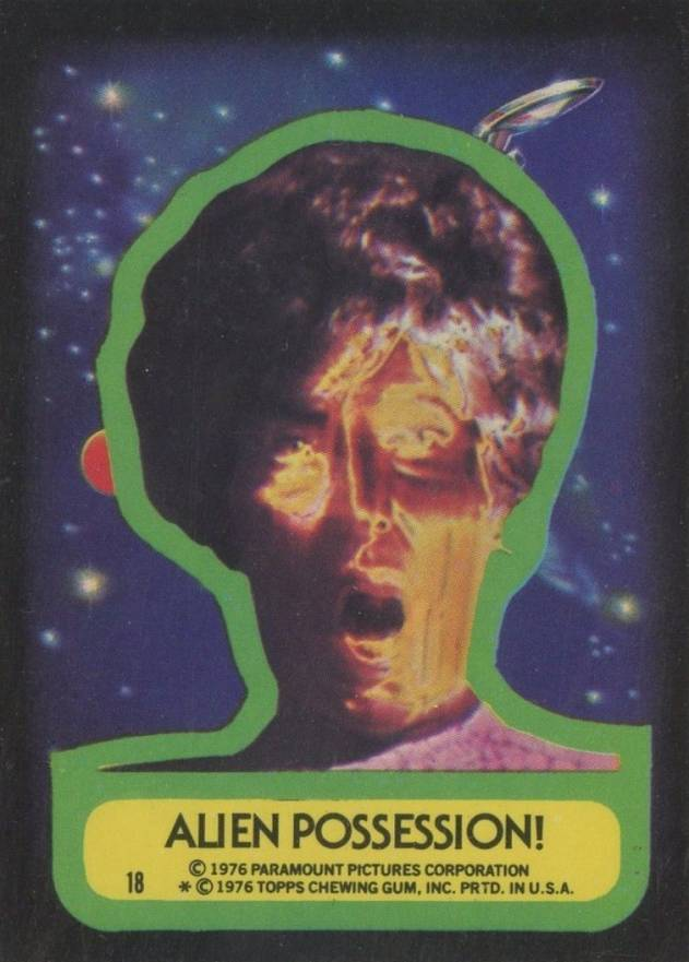 1976 Topps Star Trek Stickers Alien possession! #18 Non-Sports Card