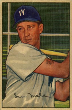 1952 Bowman Sam Mele #15 Baseball Card