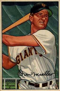 1952 Bowman Don Mueller #18 Baseball Card