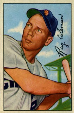 1952 Bowman Ray Coleman #201 Baseball Card
