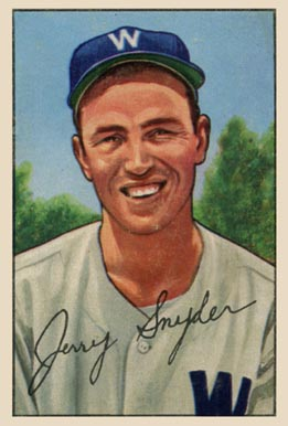 1952 Bowman Jerry Snyder #246 Baseball Card