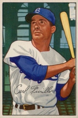 1952 Bowman Carl Furillo #24 Baseball Card