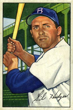 1952 Bowman Gil Hodges #80 Baseball Card