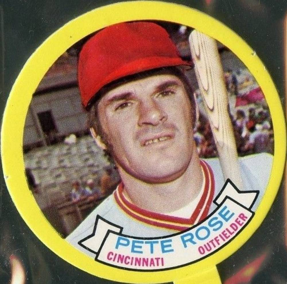 1973 Topps Candy Lids Pete Rose # Baseball Card