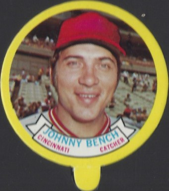 1973 Topps Candy Lids Johnny Bench # Baseball Card
