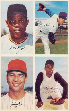 1969 MLB Photostamps Panel Mays/Hands/Callison/Clemente # Baseball Card