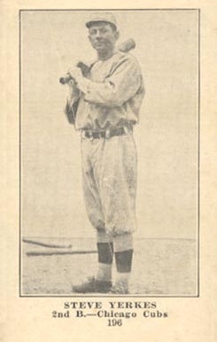 1917 Weil Baking Co. Steve Yerkes #196 Baseball Card