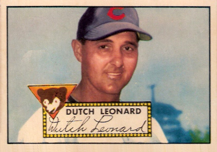 1952 Topps Dutch Leonard #110 Baseball Card