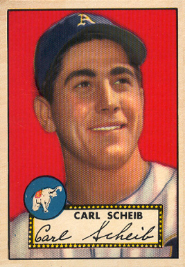 1952 Topps Carl Scheib #116 Baseball Card