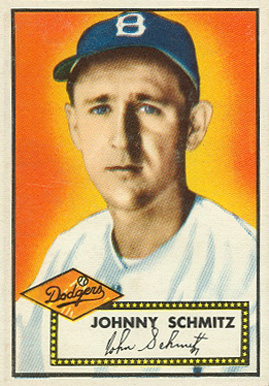 1952 Topps Johnny Schmitz #136 Baseball Card