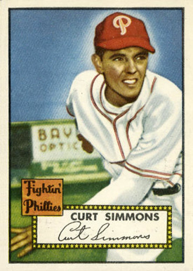 1952 Topps Curt Simmons #203 Baseball Card