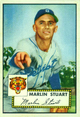 1952 Topps Marlin Stuart #208 Baseball Card