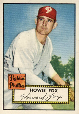 1952 Topps Howie Fox #209 Baseball Card