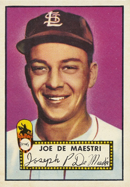 1952 Topps Joe De Maestri #286 Baseball Card