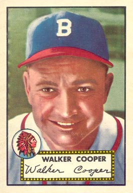 1952 Topps Walker Cooper #294 Baseball Card