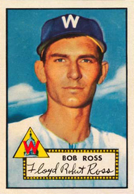 1952 Topps Bob Ross #298 Baseball Card