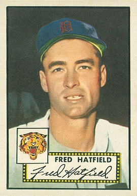 1952 Topps Fred Hatfield #354 Baseball Card