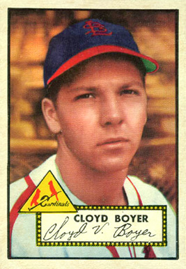 1952 Topps Cloyd Boyer #280 Baseball Card