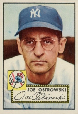1952 Topps Joe Ostrowski #206 Baseball Card