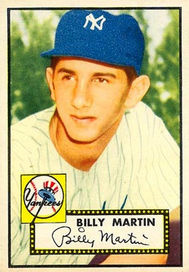 1952 Topps Billy Martin #175 Baseball Card
