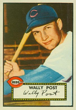 1952 Topps Wally Post #151 Baseball Card