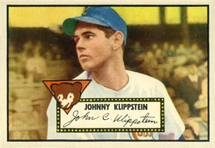 1952 Topps Johnny Klippstein #148 Baseball Card