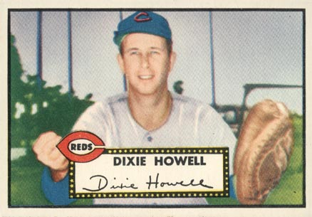 1952 Topps Dixie Howell #135 Baseball Card