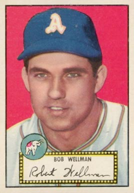 1952 Topps Bob Wellman #41b Baseball Card