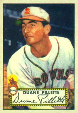1952 Topps Duane Pillette #82 Baseball Card