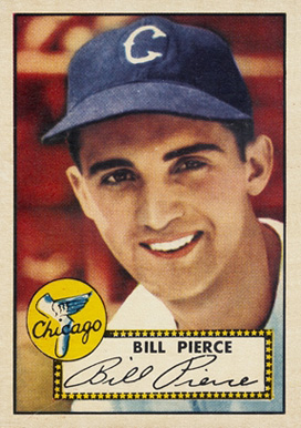 1952 Topps Billy Pierce #98 Baseball Card