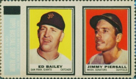 1962 Topps Stamp Panels Bailey/Piersall # Baseball Card