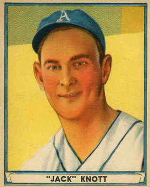 1941 Play Ball Jack Knott #68 Baseball Card