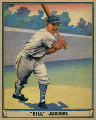 1941 Play Ball Bill Jurges #59 Baseball Card
