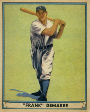 1941 Play Ball Frank Demaree #58 Baseball Card