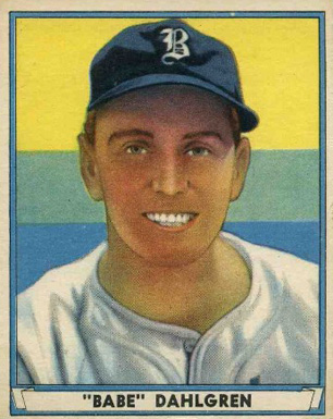 1941 Play Ball Babe Dahlgren #49 Baseball Card