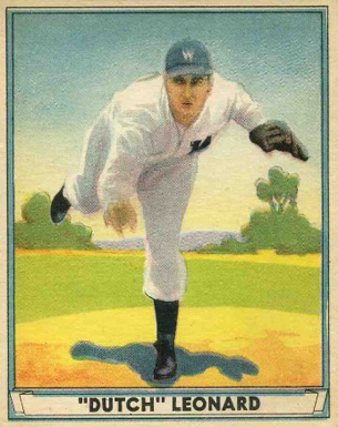 "1941 Play Ball ""Dutch"" Leonard #24 Baseball Card"
