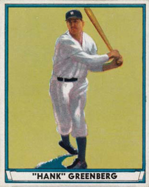 1941 Play Ball Hank Greenberg #18 Baseball Card