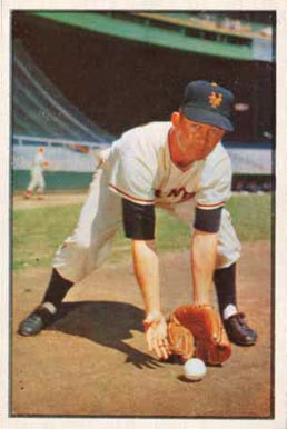 1953 Bowman Color Davey Williams #1 Baseball Card