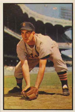 1953 Bowman Color Johnny Pesky #134 Baseball Card