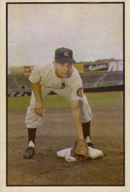 1953 Bowman Color Jim Brideweser #136 Baseball Card