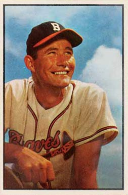 1953 Bowman Color Joe Adcock #151 Baseball Card