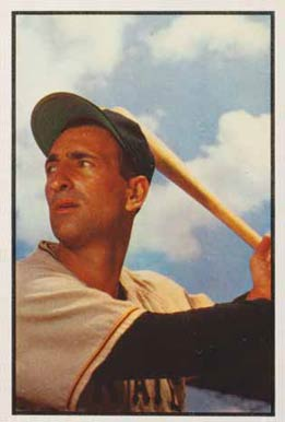 1953 Bowman Color Cal Abrams #160 Baseball Card