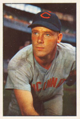 1953 Bowman Color Herman Wehmeier #23 Baseball Card