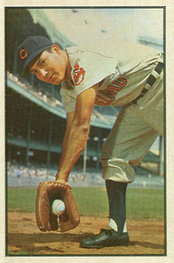 1953 Bowman Color Bobby Avila #29 Baseball Card