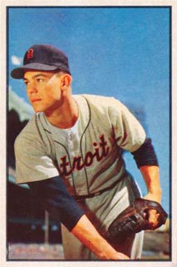 1953 Bowman Color Art Houtteman #4 Baseball Card