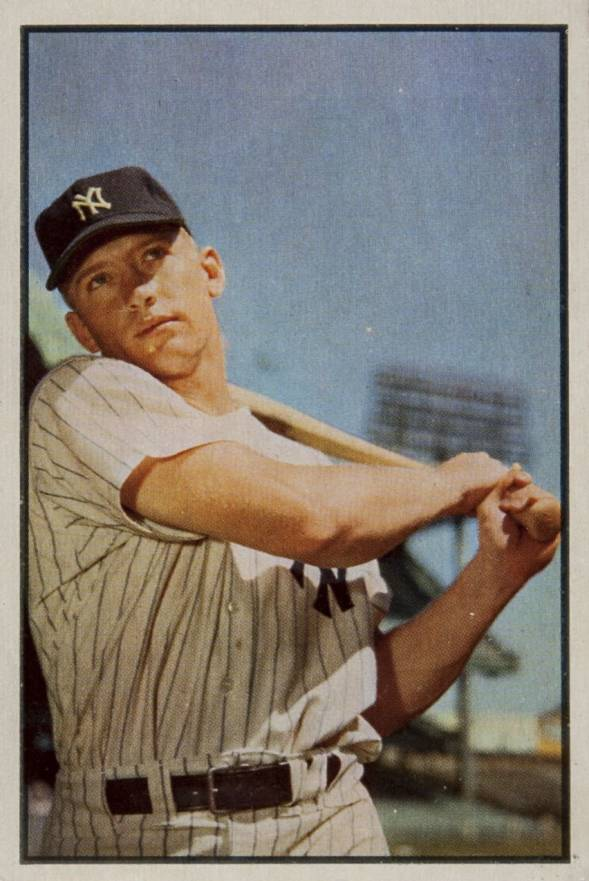 1953 Bowman Color Mickey Mantle #59 Baseball Card